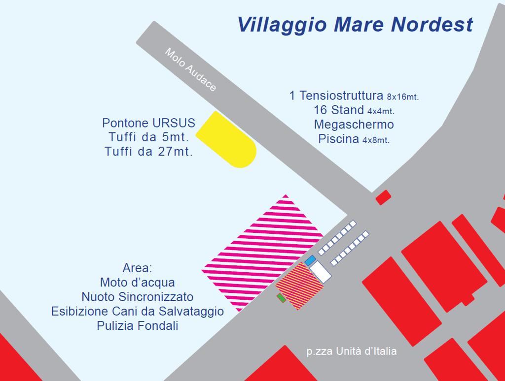 Mappa Villaggio Mare Nordest zoom