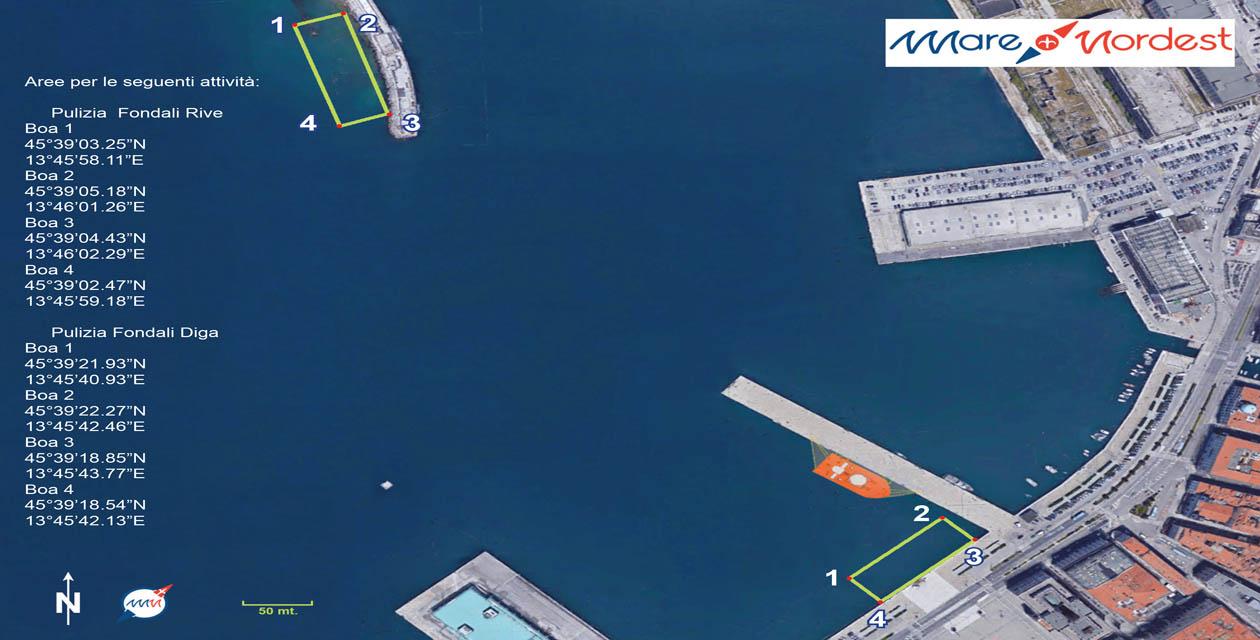 mappa pulizia fondali Mare Nordest 2019