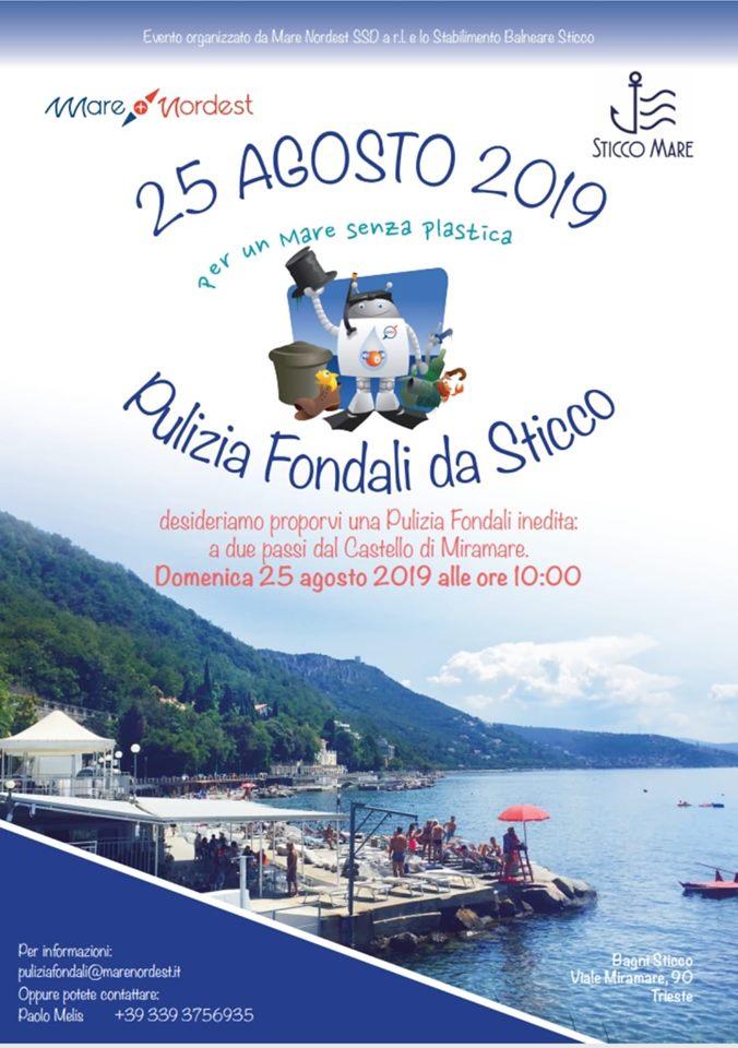 Trieste Pulizia Fondali 25 agosto 2019